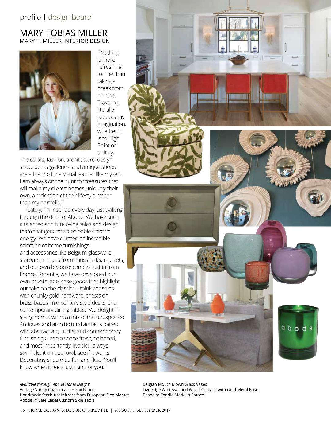 Design Board Profile On Mary Tobias Miller By Home Design U0026 Decor Charlotte