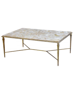 Gold Agate Cocktail Table