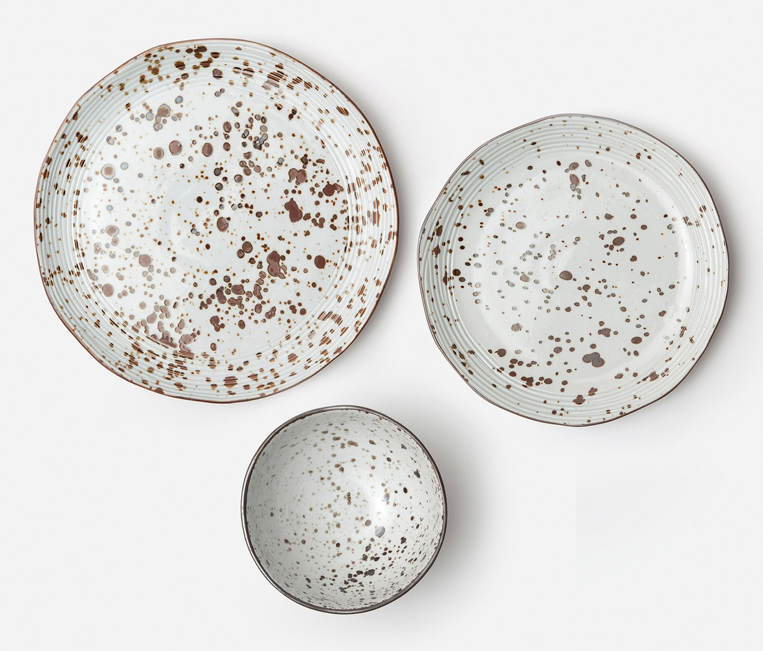 sc 1 st  abode & Speckled White Dinner Plate