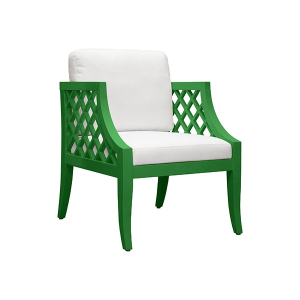 Beau Kelly Green Lacquer Side Chair