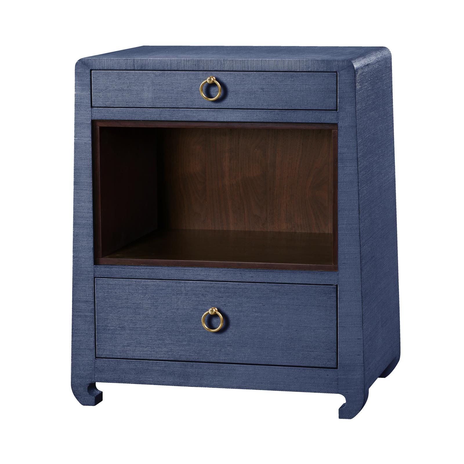 Superbe Navy 2 Drawer Side Table