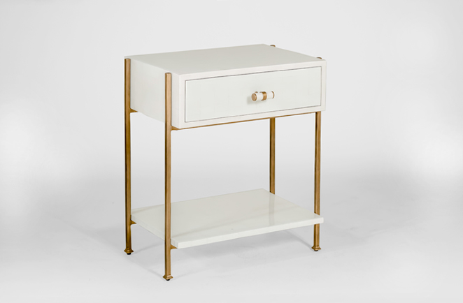 Attrayant Gold U0026 White Side Table